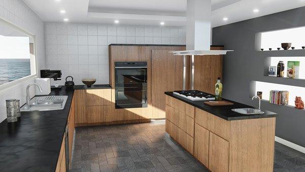 imagen de una cocina en una vivienda a la venta