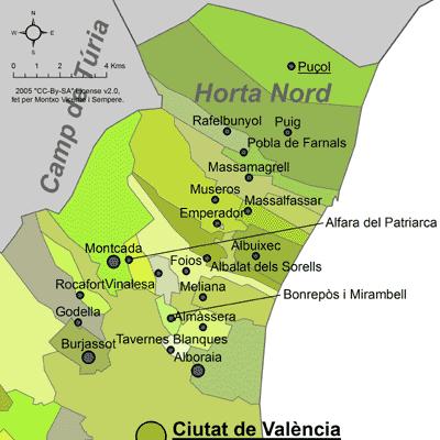 mapa para alquilar piso en L'Horta Nord